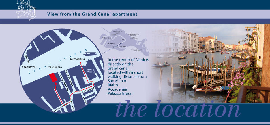 Vacation Apartment Rental in Venice, Italy on The Grand Canal